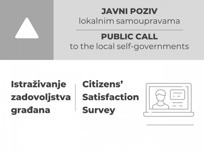 Otvoren javni poziv lokalnim samoupravama za učešće u istraživanju zadovoljstva građana